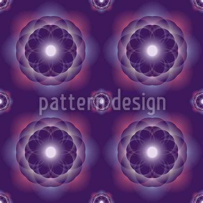 Floral Supernova Seamless Pattern