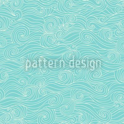 Wellenspiel In Der Lagune Nahtloses Vektor Muster