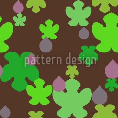 Feige Und Blatt Muster Design