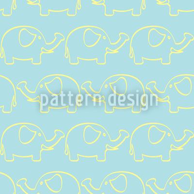 Elefanten Marsch Nahtloses Vektormuster