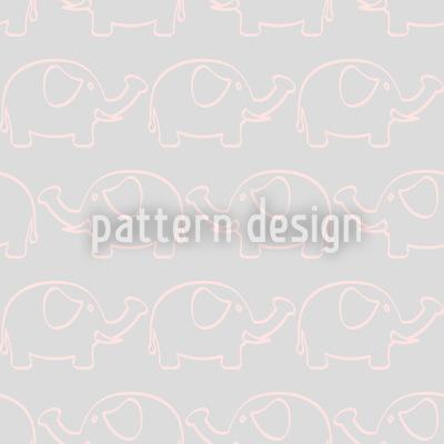 Baby Elefanten Marsch Vektor Ornament