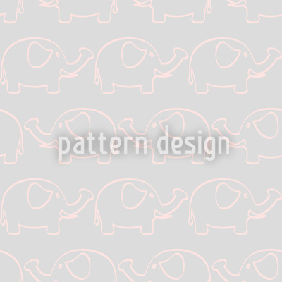 Baby Elephant March Vector Ornament