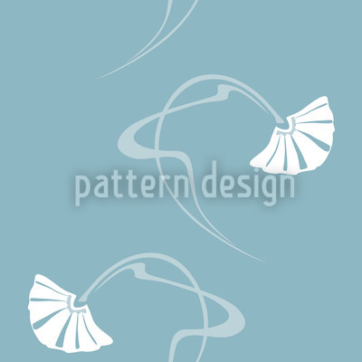 Burlesque Sterling Blau Musterdesign