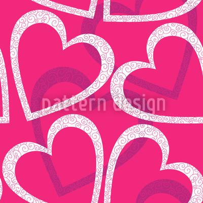 Love Love Love Nahtloses Vektor Muster