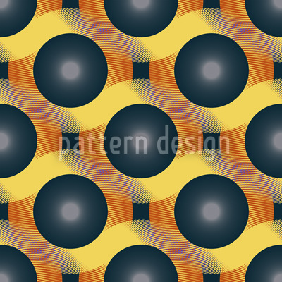 Neue Welle Ball Vektor Muster