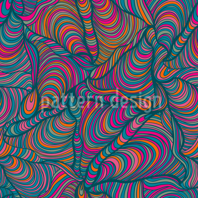 Funky Pasta Squares Vector Pattern