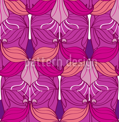 Bellflower Seamless Vector Pattern Design