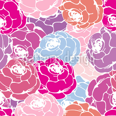 Rose Bouquets Pattern Design
