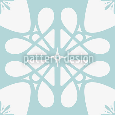 Icy Flower Seamless Vector Pattern Design