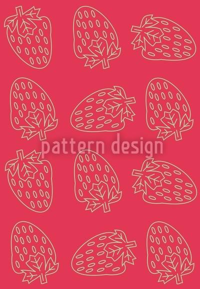Erdbeer Style Nahtloses Muster