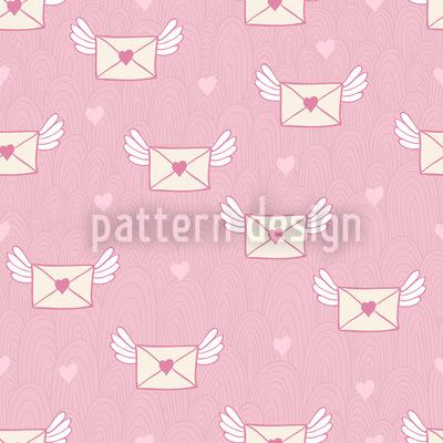 Ach Du Liebesbriefchen Nahtloses Vektor Muster