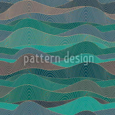 The Myth Of The Waves Seamless Vector Pattern Design