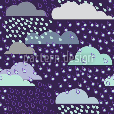 Magical Rain Seamless Vector Pattern