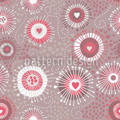 Heartbeats Seamless Vector Pattern Design