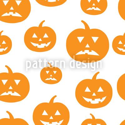 Halloween Kürbisse Vektor Muster