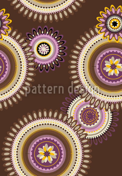Floral Mandalas Repeat Pattern