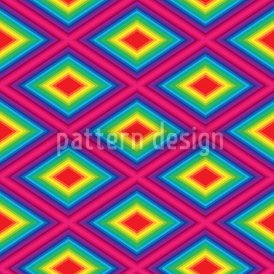 Rainbow Diamonds Repeating Pattern