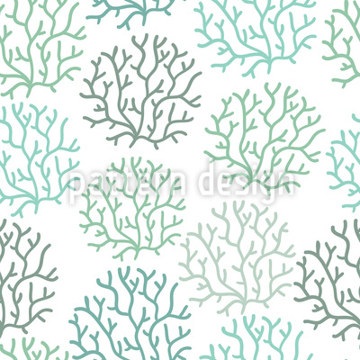 Coral Spring Vector Ornament