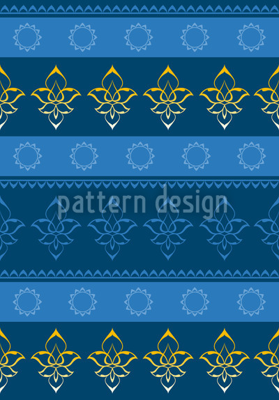 Caliph Seamless Vector Pattern Design