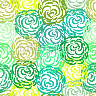 Frühlingsrosen Rapportiertes Design