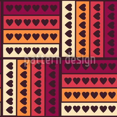 Herzen Auf Streif Musterdesign