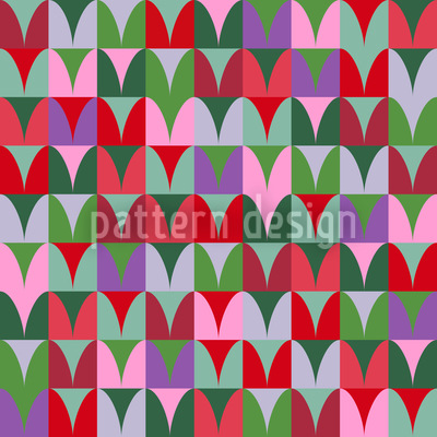 Heart Fields Seamless Pattern