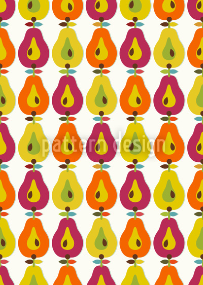 Retro Pear Pattern Design