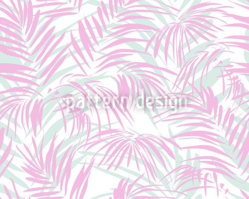 Palm Tree Romance Seamless Vector Pattern