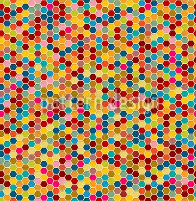 Honigwaben Variationen Nahtloses Vektormuster