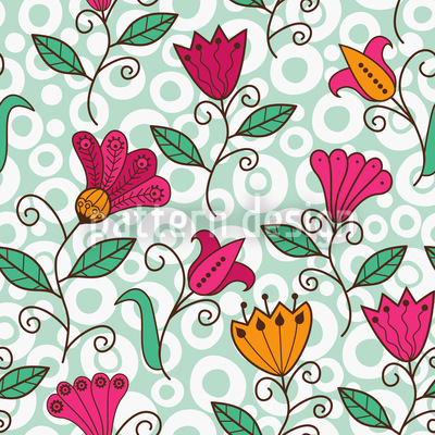Floral Sweetness Vector Pattern