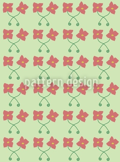 Flower Couple Pattern Design