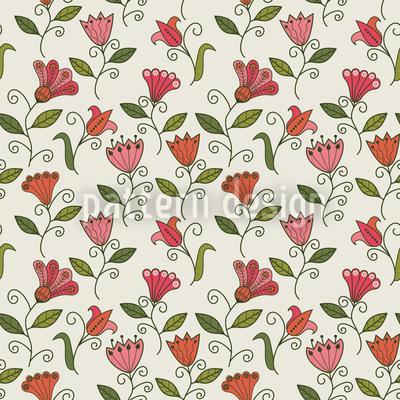 Süsse Blumen Erinnerung Nahtloses Vektor Muster
