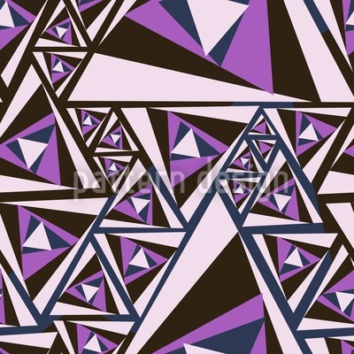 Triangle Rotation Seamless Vector Pattern Design