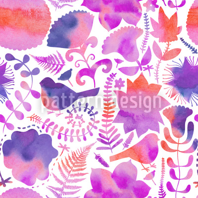 Naturally Watercolor Seamless Vector Pattern