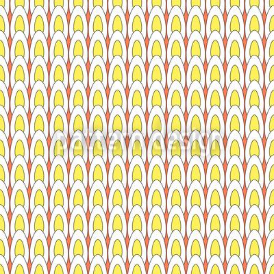 Abgebrühte Eier Parade Rapportiertes Design
