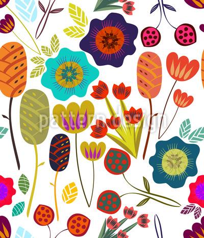 Magischer Garten Nahtloses Vektor Muster