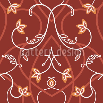 Gothic Flowers Seamless Vector Pattern Design