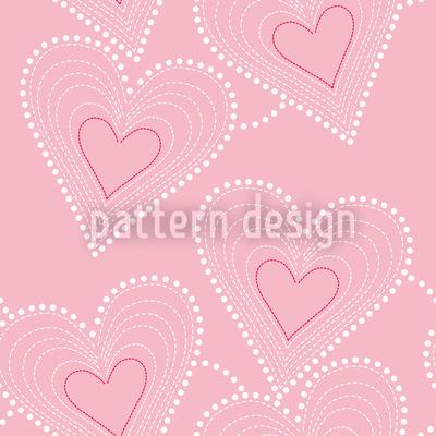 Handarbeit Mit Herz Rapportiertes Design