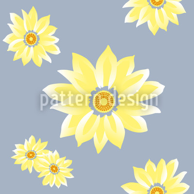 Sunflower Wakening Seamless Vector Pattern Design