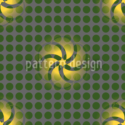 Star Vortex On Dots Pattern Design