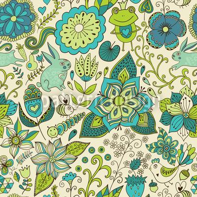 Zauberwelt Im Frühling Vektor Design