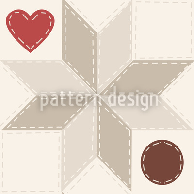 Hearty Star Patchwork Pattern Design