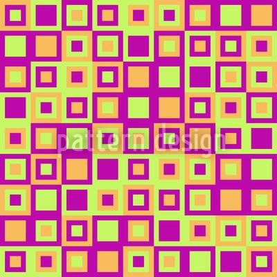 Glückliche Quadrate Nahtloses Muster