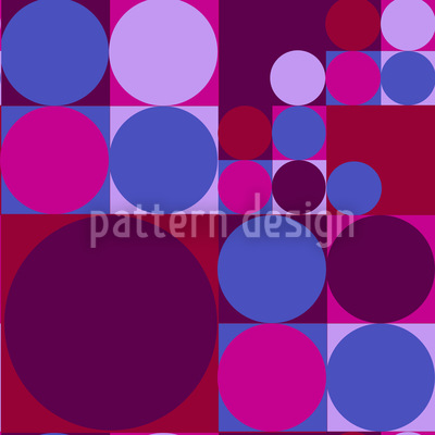 Circle Families Seamless Vector Pattern