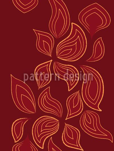 Feurige Blätter Nahtloses Muster