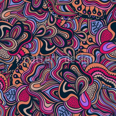 New Delhi Fantasien Nahtloses Vektor Muster