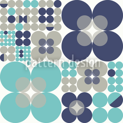 Retro Circle Winter Pattern Design