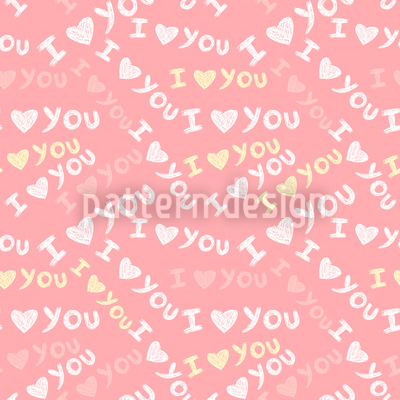 I Love YOU Vector Pattern