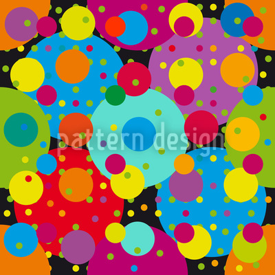 Karneval Der Kreise Muster Design