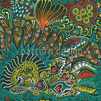 Reefgarden Of The Ocean King Seamless Pattern